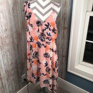 NWT blush ruffle shoulder hi-Low floral dress XL
